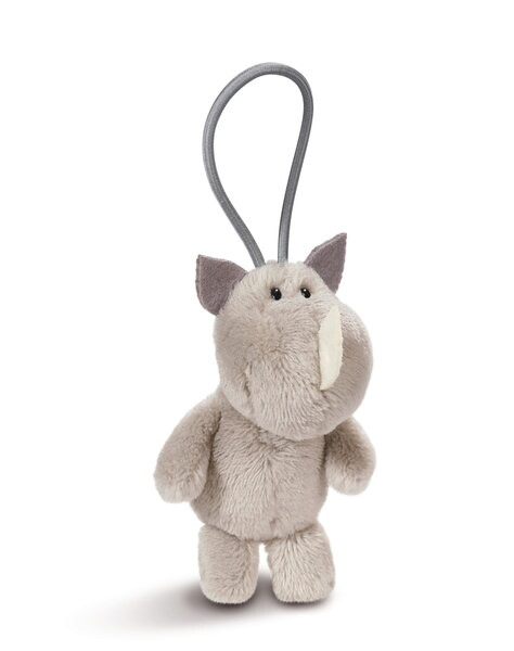 Pendant rhino with elastic loop