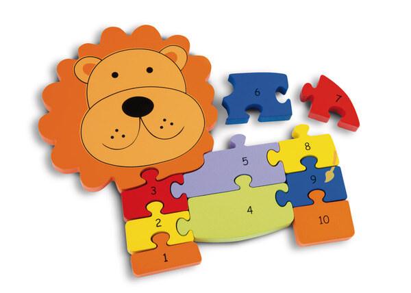 Number puzzle Lion