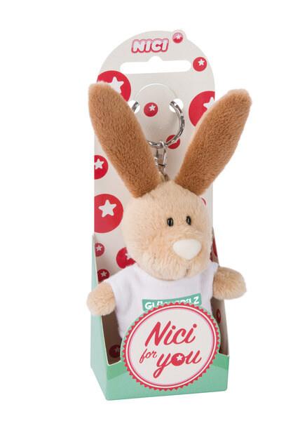 Keyring rabbit 'Glückspilz'