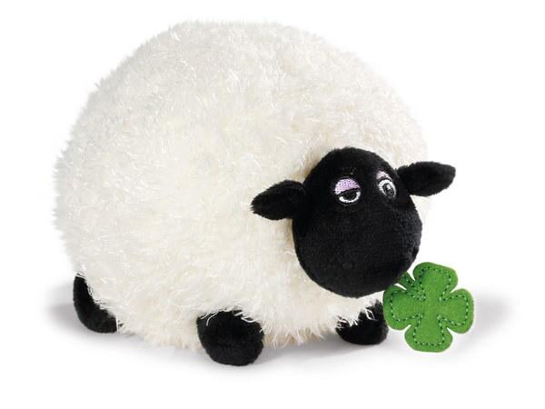Kuscheltier Schaf Shirley mit Kleeblatt