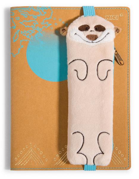 Notizbuch Erdmännchen mit Einband und Mäppchen