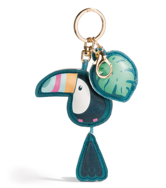 Toucan bag pendant made of imitation leather