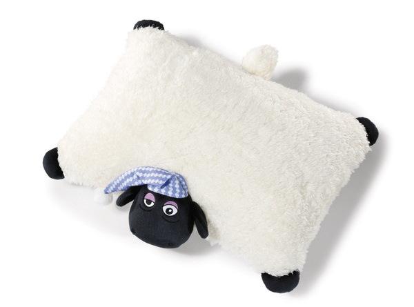 Kuscheltier-Kissen Schaf Shirley mit Schlafmütze
