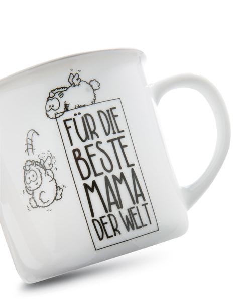"""Porzellantasse metallic """"Für die Beste Mama der Welt"""""""