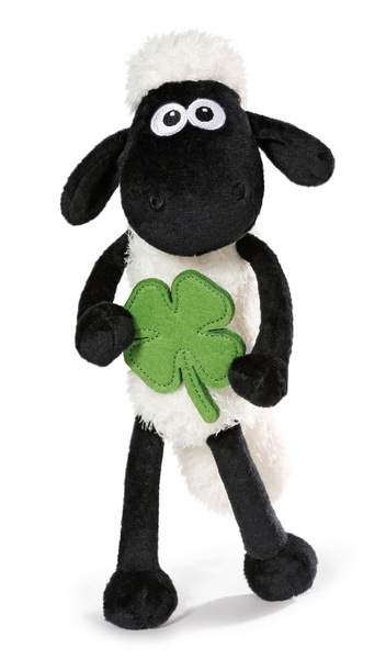 Kuscheltier Shaun das Schaf mit Kleeblatt