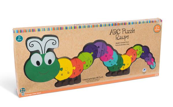ABC Puzzle Raupe