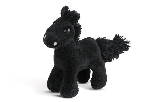 Magnettier stehendes Pferd Black Cassis