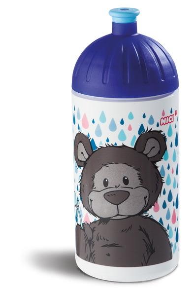 Trinkflasche mit dunkelbraunem Bären