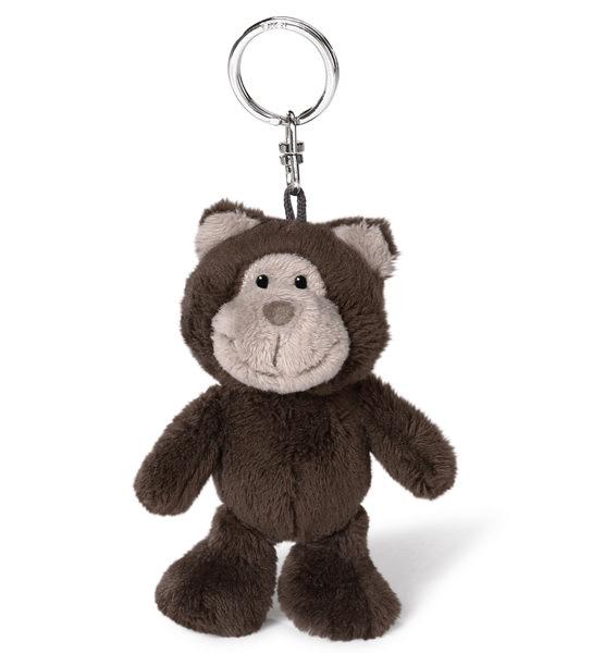 Schlüsselanhänger Bär dunkelbraun