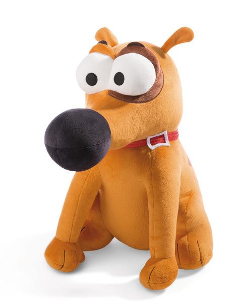 Sitzender Kuscheltier Hund Pat