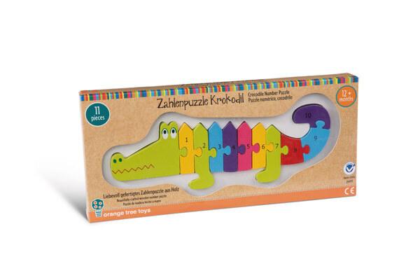 Zahlenpuzzle Krokodil