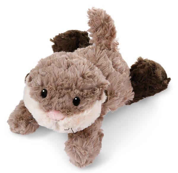 Liegendes Kuscheltier Otter-Kind Odalina