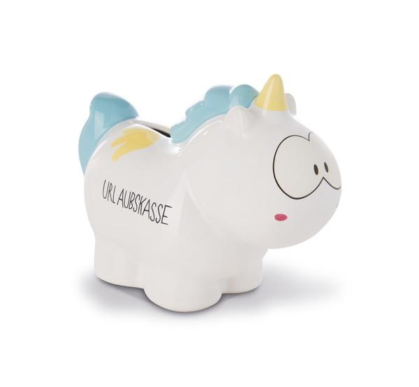 "Savings box unicorn Rainbow Flair ""Urlaubskasse"""