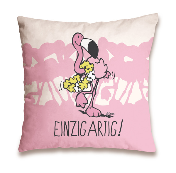 """Baumwollkissen Flamingo """"Einzigartig"""""""