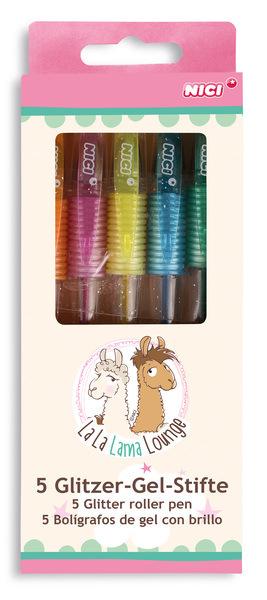 Glitzer-Gelstifte-Set Lamas