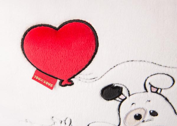Rechteckiges Kissen Love Hund