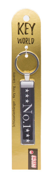 Keyring Key World 'No. 1'