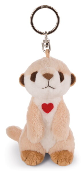 Keyring meerkat with heart