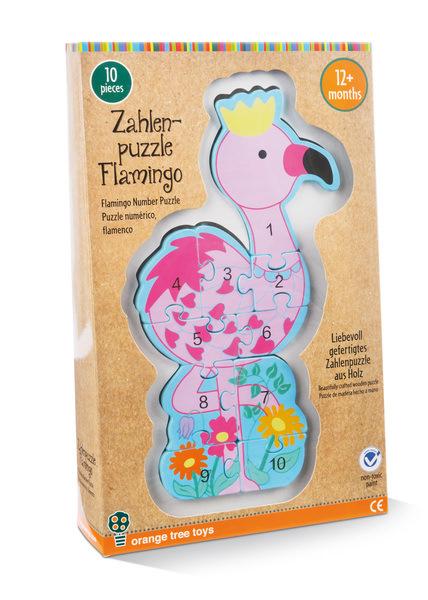 Zahlenpuzzle Flamingo