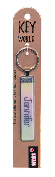 Keyring Key World 'Jennifer'