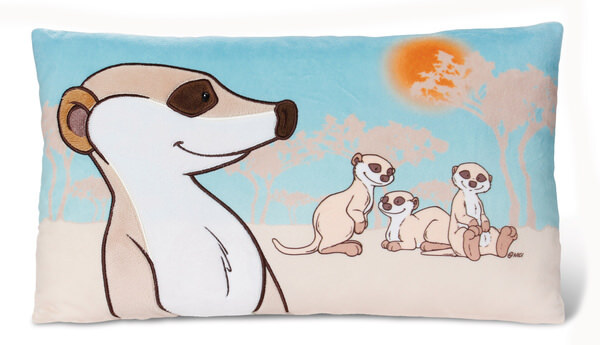 Rectangular Cushion Meerkat