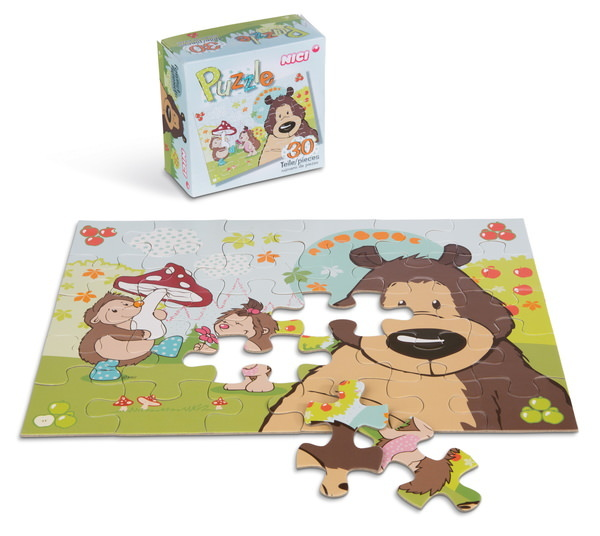 Puzzle grizzly bear and hedgehog, 30 parts