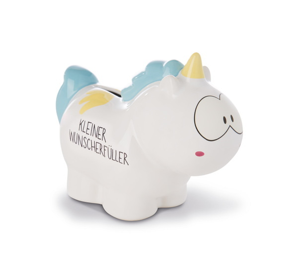 "Savings box unicorn Rainbow Flair ""kleiner Wunscherfüller"""