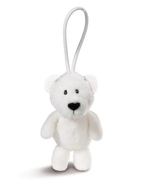 Pendant polar bear with elastic loop