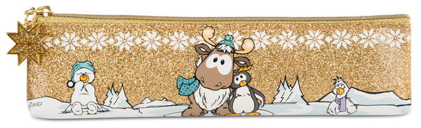 Flat pencil pouch penguin Frizzy