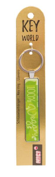Keyring Key World '100% Vegan'