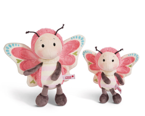 Cuddly toy butterfly