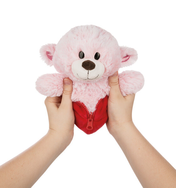 Reversible cuddly toy Love bear girl / heart cushion