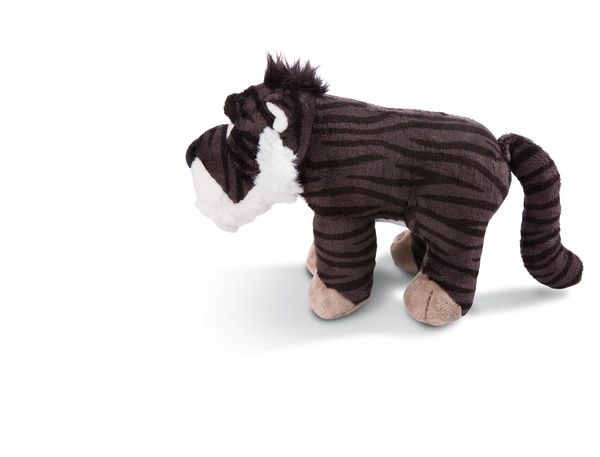 Standing Cuddly toy sabre-toothed tiger