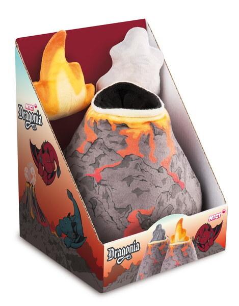 Kuscheltier Plüschvulkan mit Wolke und Feuer Dragonia