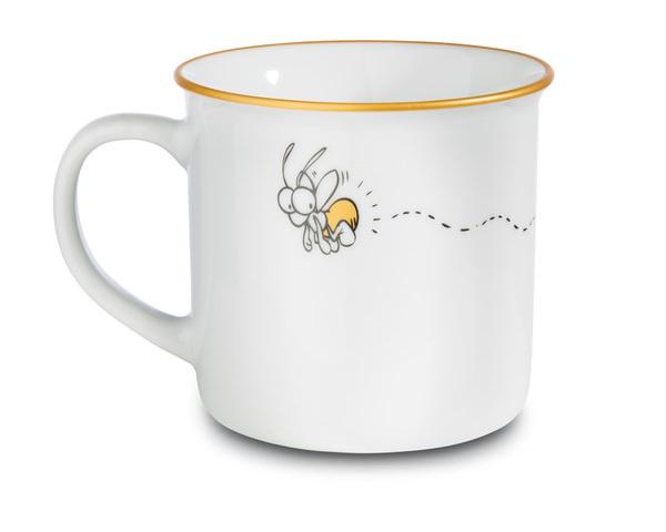 Porcelain mug metallic 'Ich bin die hellste Leuchte hier'