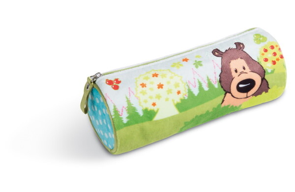 Pencil case grizzly bear Criz Lee and hedgehogs
