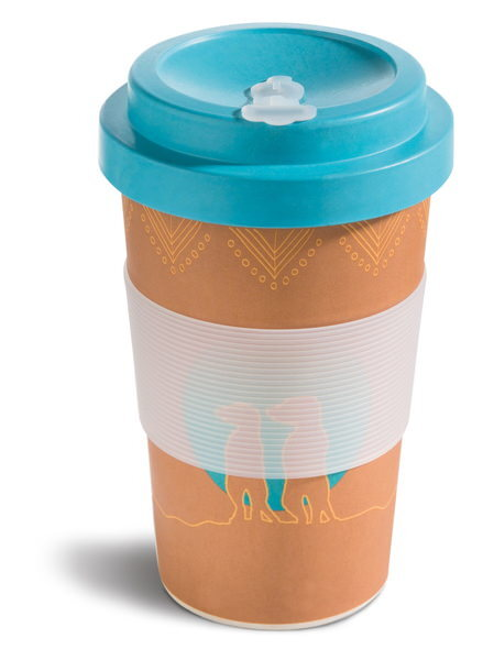Bamboo cup NICI Meerkat