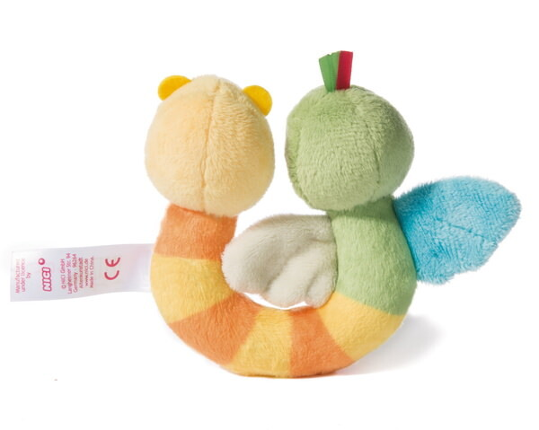 Double plush ring sparrow Fritz and worm Hugo_x000D_