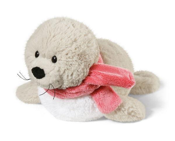 Liegendes Kuscheltier Robbe