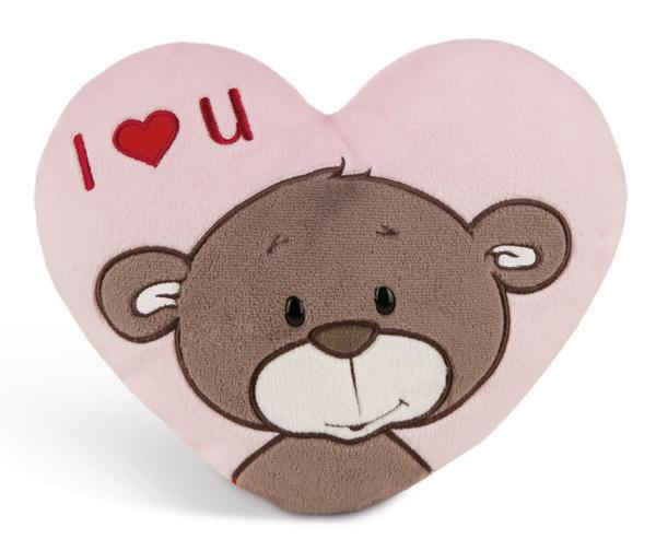 Herzförmiges Kissen Love Bär Junge