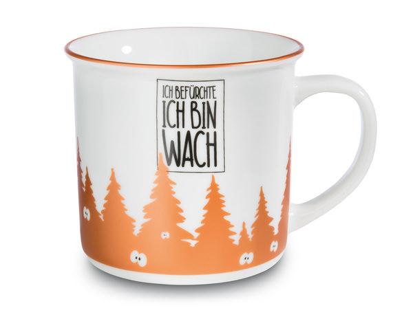 Porcelain mug metallic 'Ich befürchte ich bin wach'