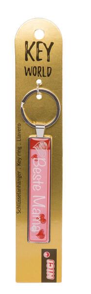 Schlüsselanhänger Key World 'Beste Mama'