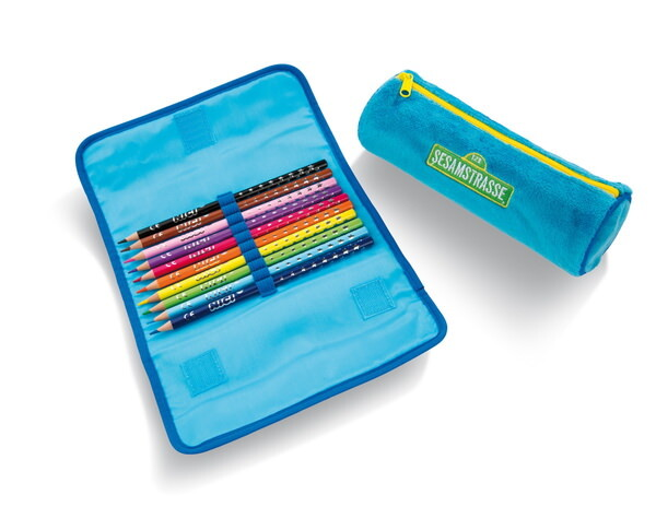 Pencil pouch Ernie and Bert with 10 pencils