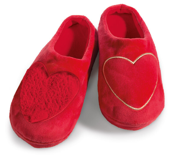 Slippers Love hearts