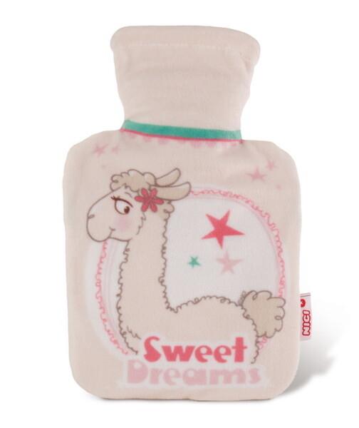 Wärmflasche Lama Lady mit Fleece-Hülle
