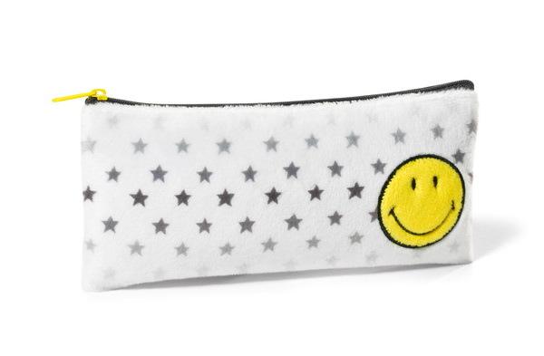 Stiftemäppchen mit Smiley und Sternen