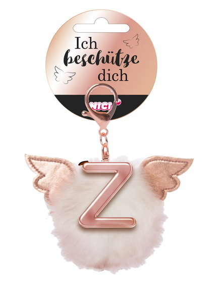 Bag pendant Angel PomPom letter Z