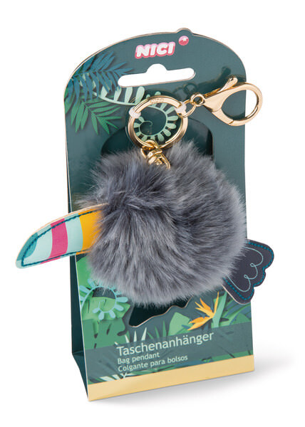 Bag Pendant Toucan with Pompon