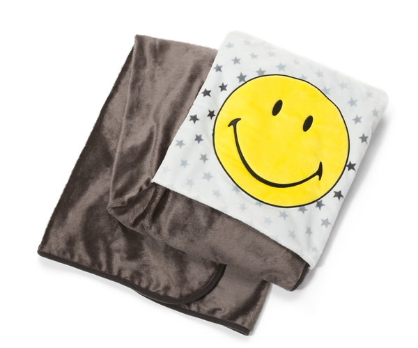 Blanket with Smiley and stars