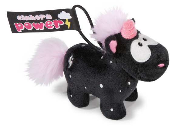 Keyring Theodor and Friends unicorn Carbon Flash with loop